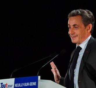 Nicolas Sarkozy lors d'un meeting hier