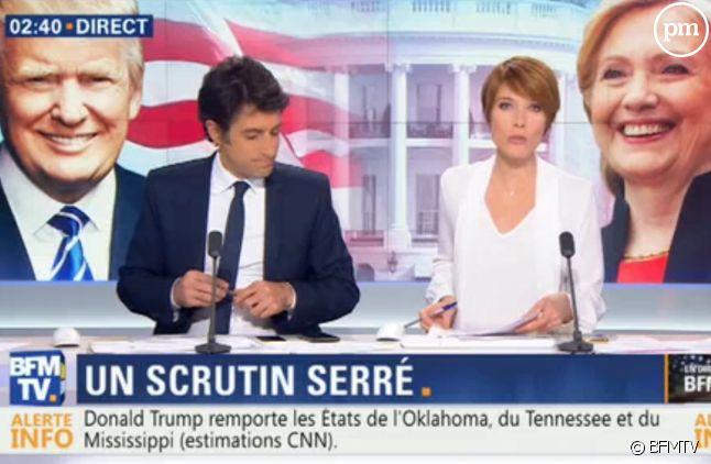 Thomas Misrachi et Lucie Nuttin cette nuit sur BFMTV