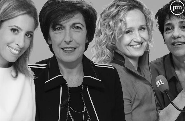 Léa Salamé, Ruth Elkrief, Caroline Roux et Elizabeth Martichoux.