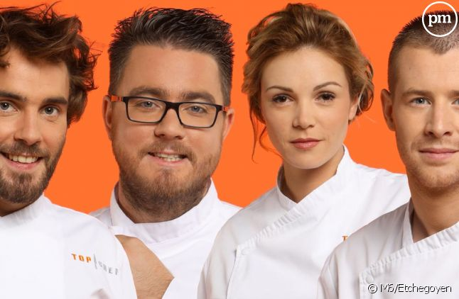 "Thomas, Carl, Marion et Mickaël dans ""Top Chef 2017"""