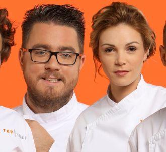 Thomas, Carl, Marion et Mickaël dans 'Top Chef 2017'