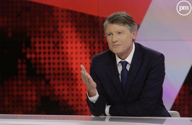 """Vincent Peillon dans """"L'entretien politique"""" sur France 2."""