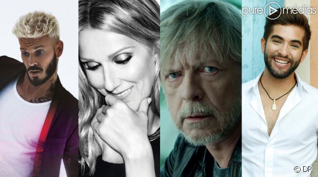 M. Pokora, Céline Dion, Renaud et Kendji