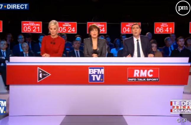 BFMTV et iTELE retransmettaient le deuxième débat de la primaire de la gauche