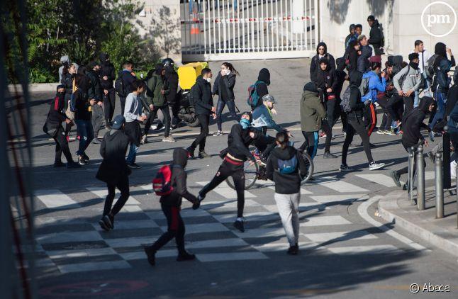 Manifestation de lycéens à Marseille (image d'illustration)
