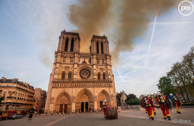 La cathédrale Notre-Dame de Paris le lundi 15 avril 2019