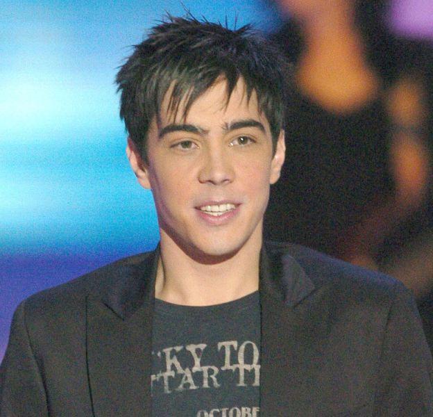 """Grégory Lemarchal, sur le plateau de """"Miss Europe"""" en 2005."""
