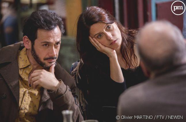 Luna (Anne Décis) et Francesco (Emanuele Giorgi) face aux explications de France 3