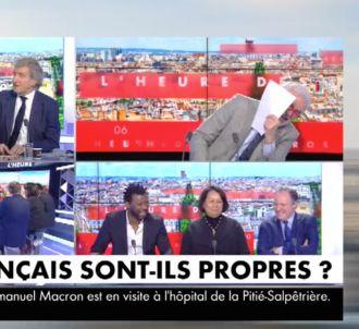 Fou rire dans 'L'heure des pros' sur CNews.