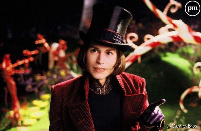 """Johnny Depp dans """"Charlie et la chocolaterie"""" en 2005"""