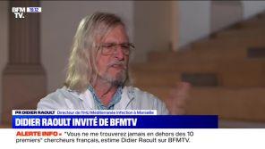 """""""Chut, taisez-vous !"""" : Didier Raoult coupe sèchement Margaux de Frouville sur BFMTV"""