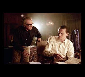 Martin Scorsese et Leonardo DiCaprio sur le tournage de...