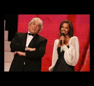 Jacques Weber et Karine Le Marchand sur la scène des...