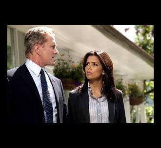 Michael Douglas et Eva Longoria dans'The Sentinel'.