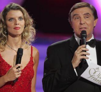Sylvie Tellier et Jean-Pierre Foucault lors de 'Miss...