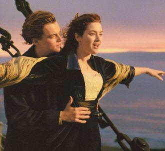 Leonardo DiCaprio et Kate Winslet dans 'Titanic'.