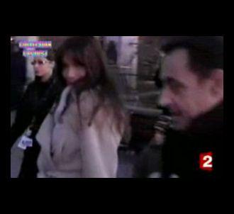 Nicolas Sarkozy et Carla Bruni, à Disneyland Paris.