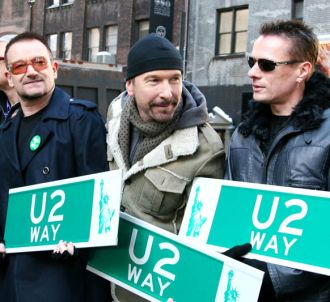 U2 à l'inauguration de la 'U2 Way' à New York