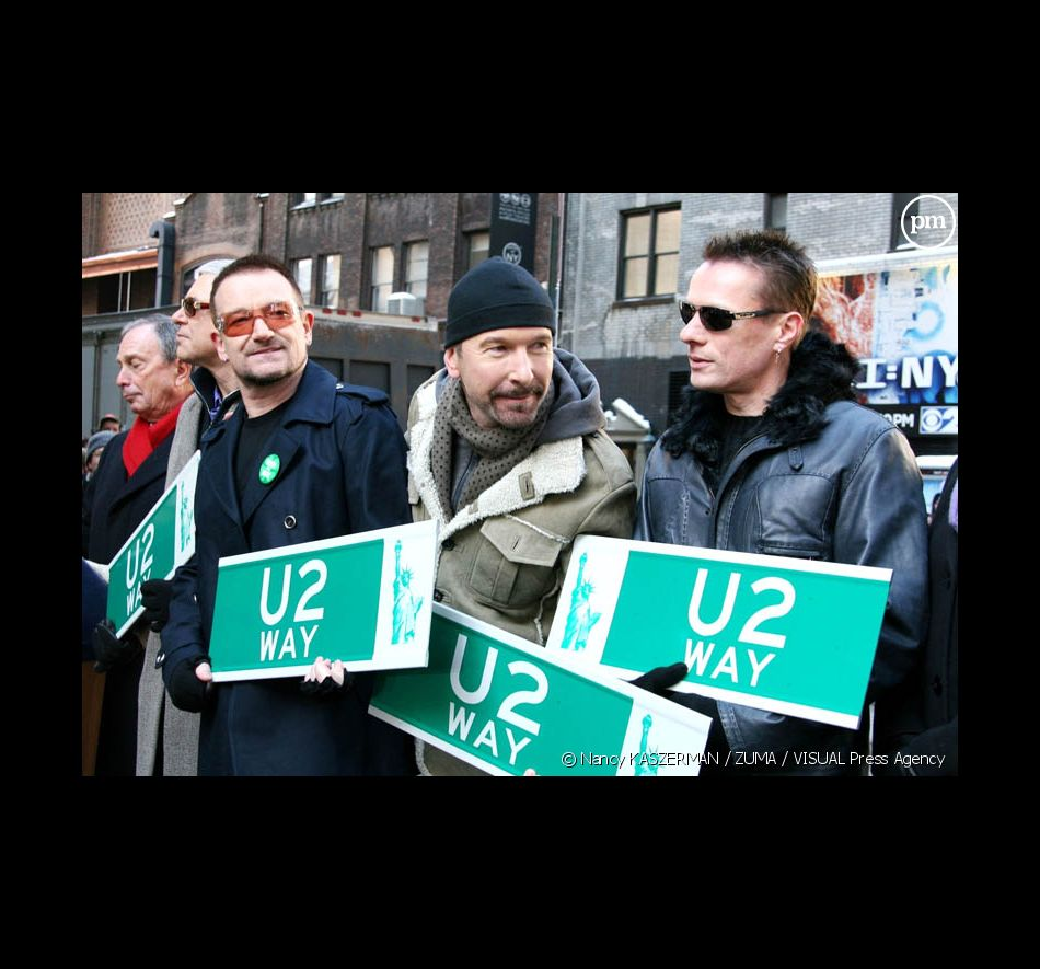 "U2 à l'inauguration de la ""U2 Way"" à New York"