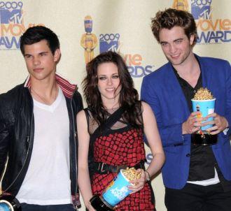 Taylor Lautner, Kristen Stewart et Robert Pattinson aux...