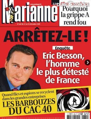 """L hebdomadaire """"Marianne"""" du 12 décembre 2009"""