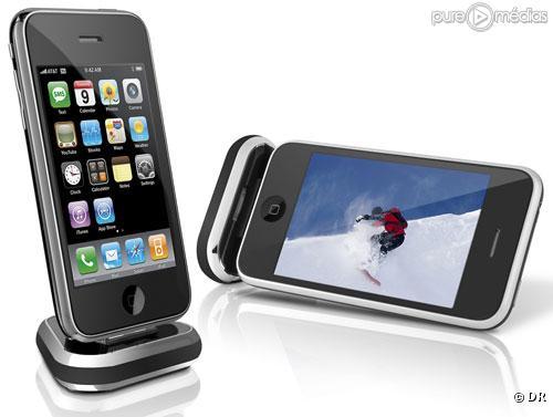 Chargeur portable Philips Station d accueil TriDock Travel pour iPhone et iPod