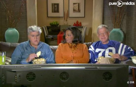 Jay Leno, Oprah Winfrey et David Letterman