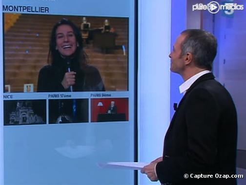 Marie Drucker et Samuel Etienne sur France 3 le 8 février 2010.