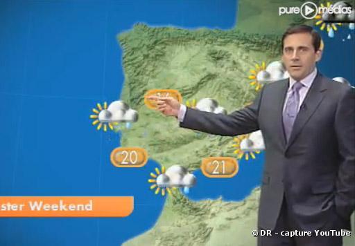 """Steve Carell présente la météo dans """"GMTV"""""""