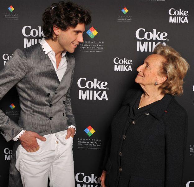 Mika et Bernadette Chirac, à Paris, le 15 avril 2010