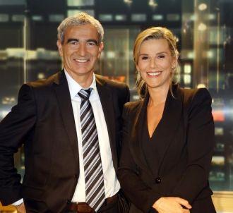 Raymond Domenech et Laurence Ferrari, le 11 mai 2010 sur...
