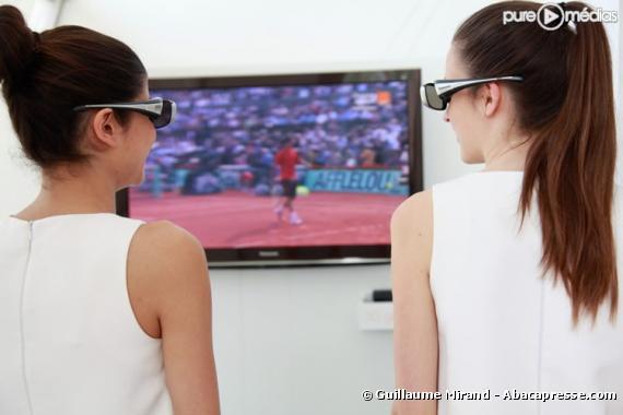 La télé 3D d'Orange à Roland Garros