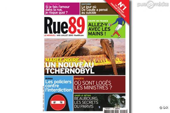 La couverture du numéro 1 du mensuel de Rue89