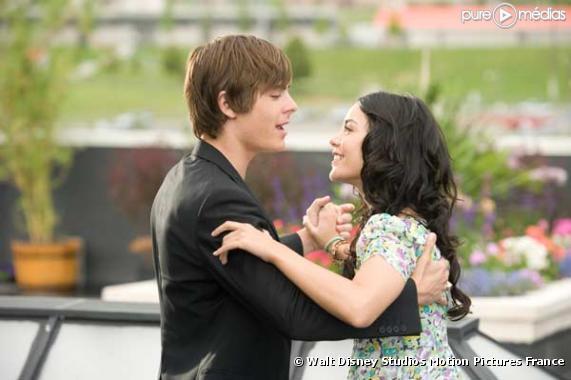 """Zac Efron et Vanessa Hudgens dans """"High School Musical 3"""""""