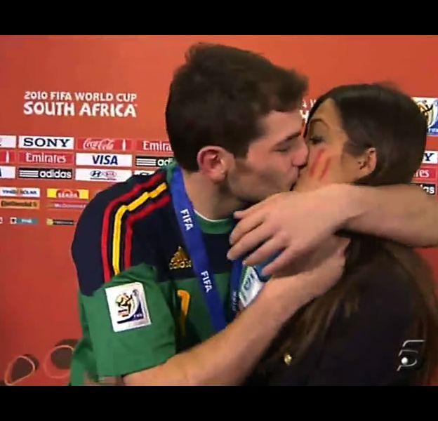 Iker Casillas et Sara Carbonero, le 11 juillet 2010
