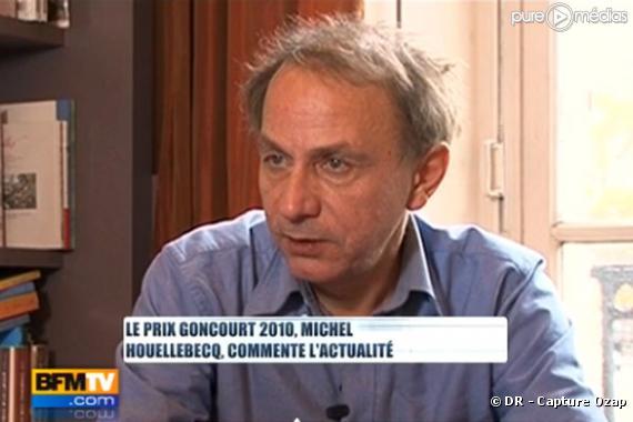 Michel Houellebecq invité de Ruth Elkrief sur BFM TV