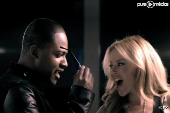 "Taio Cruz et Kylie Minogue dans le clip de ""Higher"""