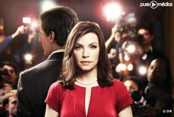 "Chris Noth et Julianna Margulies dans ""The Good Wife"""