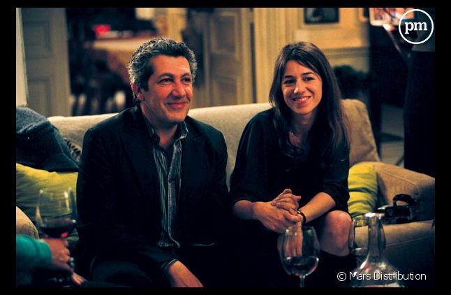 "Alain Chabat et Charlotte Gainsbourg dans ""Prête-moi ta main""."