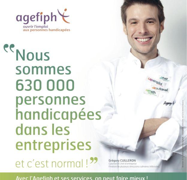 Grégory Cuilleron dans la campagne de l'Agefiph