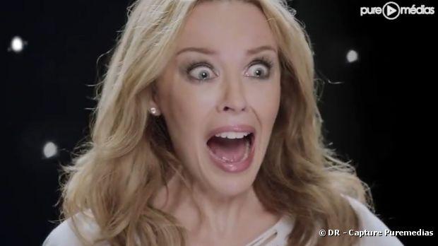 """Kylie Minogue dans la publicité du jeu """"Dance Central"""""""
