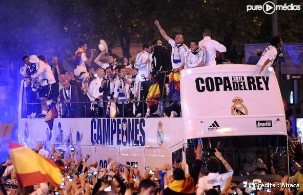 Les joueurs du Real de Madrid fêtent la Coupe du Roi