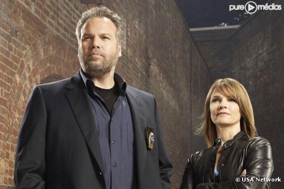 "Vincent D'Onofrio et Kathryn Erbe dans ""New York Section Criminelle"""