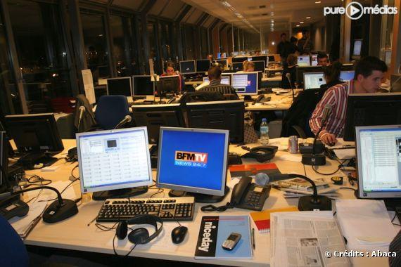 Les locaux de la chaîne BFM TV