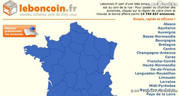 Le site internet leboncoin.fr