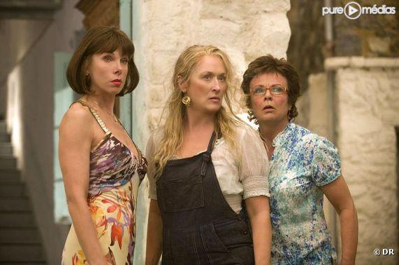 "Christine Baranski, Meryl Streep et Julie Walters dans ""Mamma Mia !"""