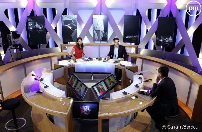Le plateau d'i>Télé, en 2011.