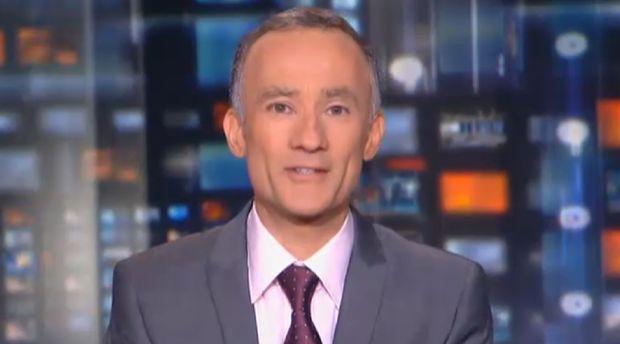 Gilles Bouleau, au JT de TF1 le 18 juillet 2011.