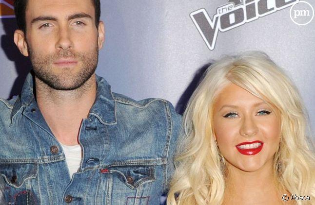 Adam Levine et Christina Aguilera