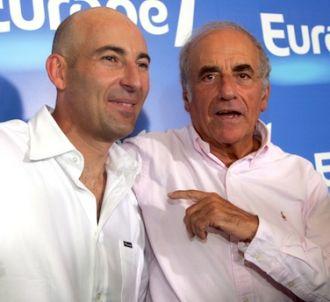 Nicolas Canteloup et Jean-Pierre Elkabbach, en 2006